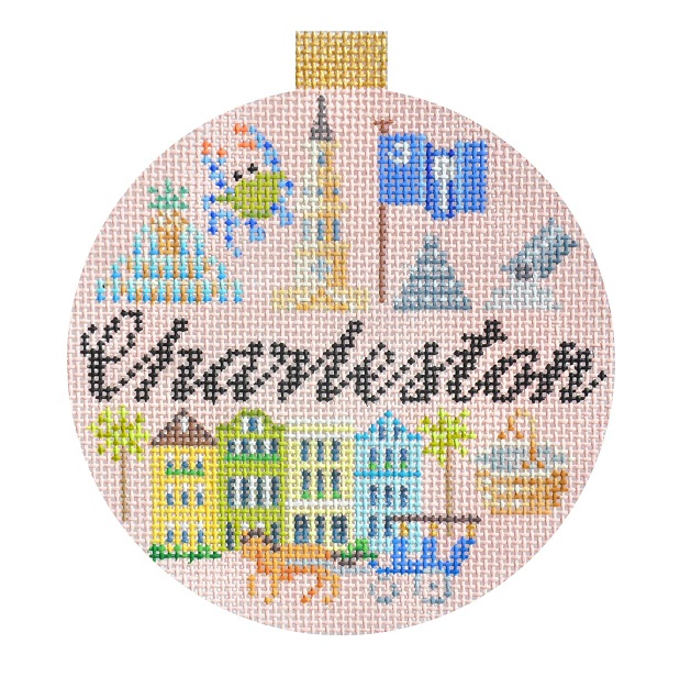 click here to view larger image of Travel Round - Charleston (hand painted canvases)
