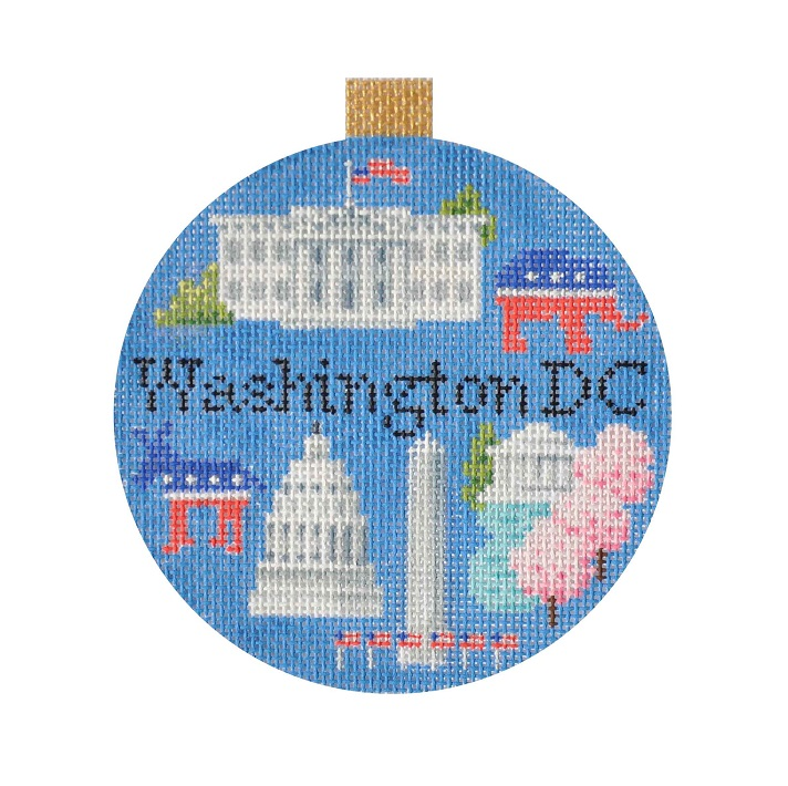 click here to view larger image of Travel Round - Washington DC (hand painted canvases)