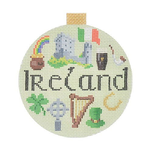 click here to view larger image of Travel Round - Ireland (hand painted canvases)