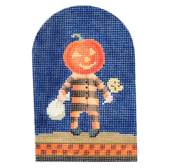 click here to view larger image of Trick-or-Treater - Pumpkin (hand painted canvases)