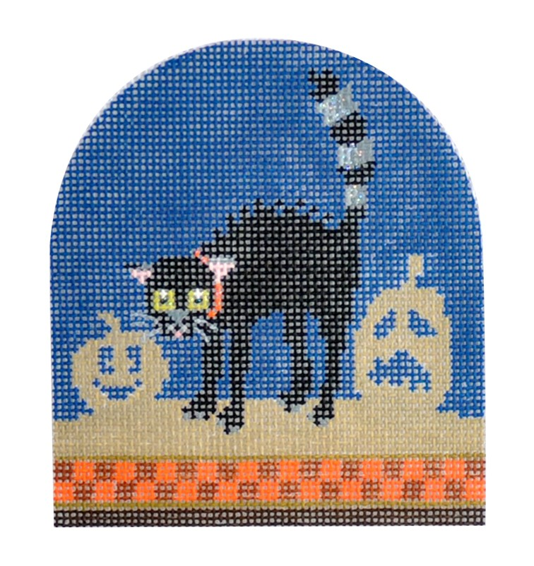 click here to view larger image of Spooky Animal - Cat (hand painted canvases)