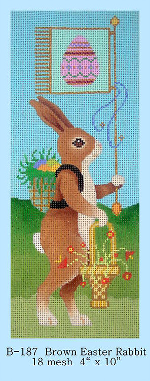 click here to view larger image of Brown Easter Rabbit (hand painted canvases)