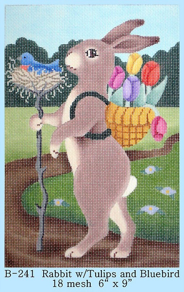 Rabbit With Tulips and Bluebiard - click here for more details