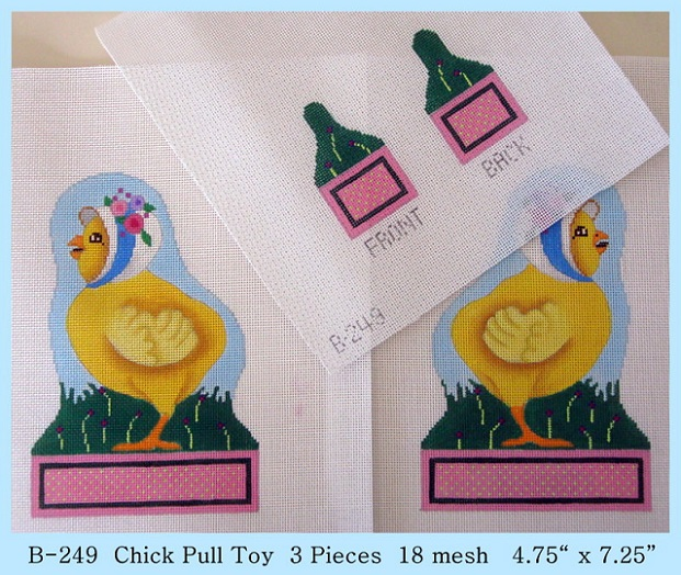 click here to view larger image of Chick Pull Toy (4 Pieces) (hand painted canvases)