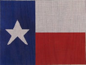 click here to view larger image of Texas Flag - 13ct (hand painted canvases)