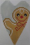 click here to view larger image of Gingerbread Man Heart (hand painted canvases)