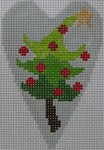 click here to view larger image of Christmas Tree Heart (hand painted canvases)