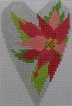 click here to view larger image of Poinsettia Heart (hand painted canvases)