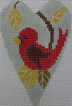 click here to view larger image of Cardinal Heart (hand painted canvases)