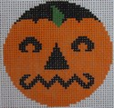 click here to view larger image of Grumpy Pumpkinface (hand painted canvases)