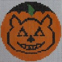 click here to view larger image of Cat Pumpkinface (hand painted canvases)