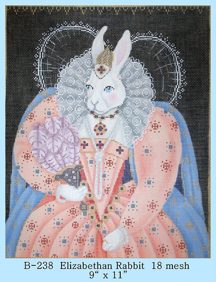 click here to view larger image of Elizabethan Rabbit (hand painted canvases)