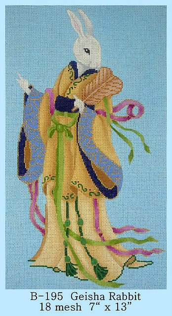 click here to view larger image of Geisha Rabbit (hand painted canvases)