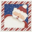 click here to view larger image of Candy Cane Santa (hand painted canvases)