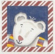 click here to view larger image of Candy Cane Polar Bear (hand painted canvases)