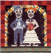 click here to view larger image of Day Of The Dead - Wedding (hand painted canvases)