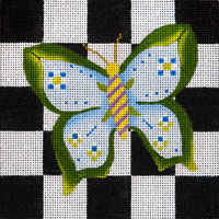 click here to view larger image of Blue Leaf Butterfly (hand painted canvases)