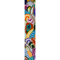 click here to view larger image of Feather Bell Pull (hand painted canvases)