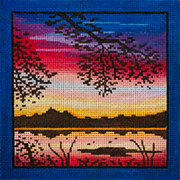click here to view larger image of Sunset Along The Rivers Edge (hand painted canvases)