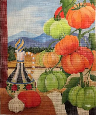 click here to view larger image of Heirloom Tomatoes (hand painted canvases)