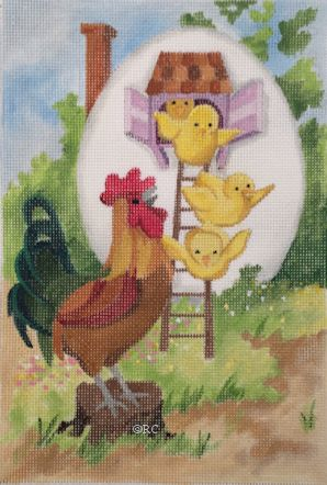 click here to view larger image of Easter Morning (hand painted canvases)