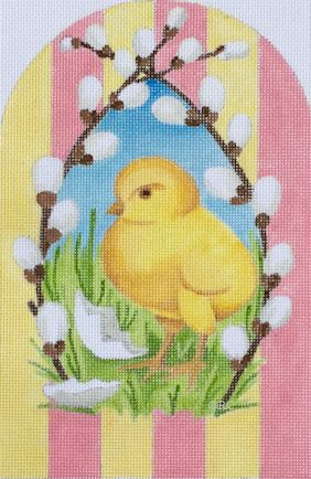 click here to view larger image of Chick And Willow (hand painted canvases)