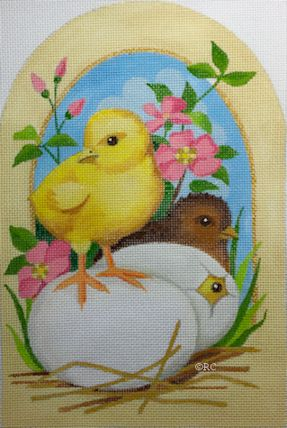 click here to view larger image of Chicks and Eggs (hand painted canvases)