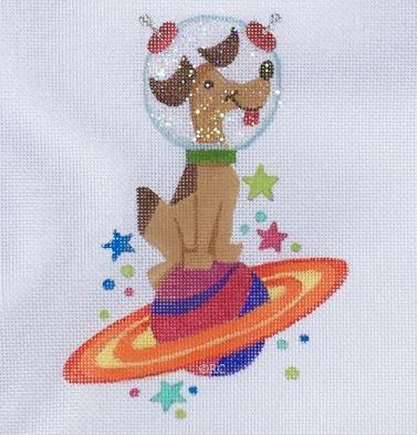 click here to view larger image of Astro Dog (hand painted canvases)
