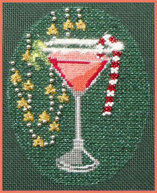 click here to view larger image of Christmas Cocktails - Cosmopolitan Stitch Guide (books)