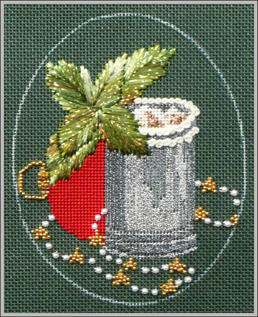 click here to view larger image of Christmas Cocktails - Mint Julep Stitch Guide (books)