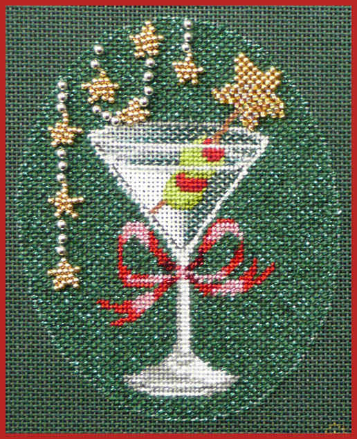 click here to view larger image of Christmas Cocktails - Martini Stitch Guide (books)