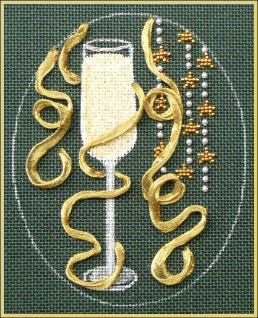 click here to view larger image of Christmas Cocktails - Champagne Stitch Guide (books)