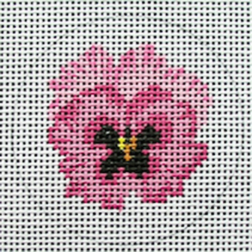 click here to view larger image of Pink Pansy (hand painted canvases)