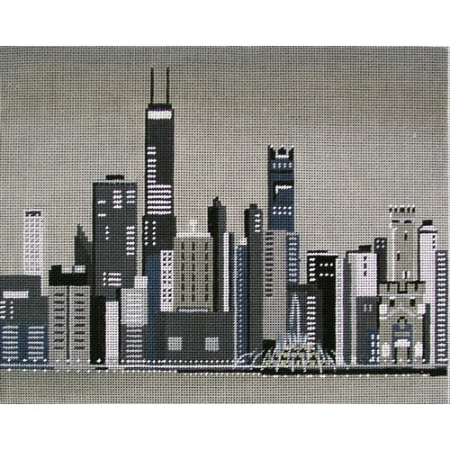 click here to view larger image of Chicago Skyline (hand painted canvases)
