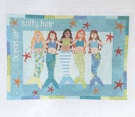 click here to view larger image of 5 Mermaids (hand painted canvases)