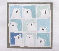 click here to view larger image of Nine Polar Bears (hand painted canvases)