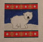 click here to view larger image of Arctic Animals - Polar Bear (hand painted canvases)