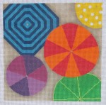 click here to view larger image of Beach Umbrelllas (hand painted canvases)