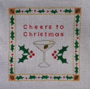 click here to view larger image of Cheers To Christmas (hand painted canvases)