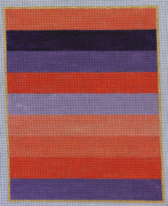 click here to view larger image of Color Study - Purple and Coral Stripe (hand painted canvases)