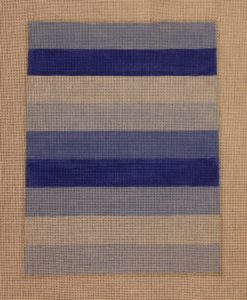 click here to view larger image of Color Study - Blue Stripes (hand painted canvases)