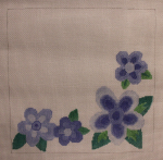 click here to view larger image of Blue Flowers (hand painted canvases)