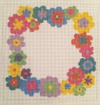 click here to view larger image of Bright Daisy Wreath (hand painted canvases)