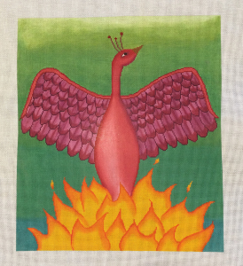 click here to view larger image of Red Phoenix (hand painted canvases)