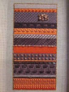 click here to view larger image of Stitch Guide for Purple and Coral Stripe (books)