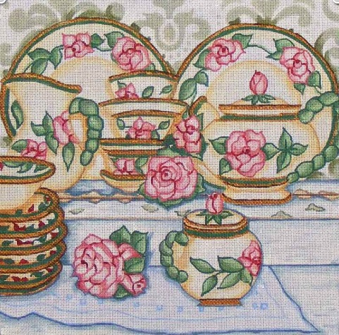 click here to view larger image of Vintage Tea (hand painted canvases)