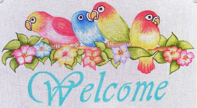 click here to view larger image of Welcome Birds (hand painted canvases)