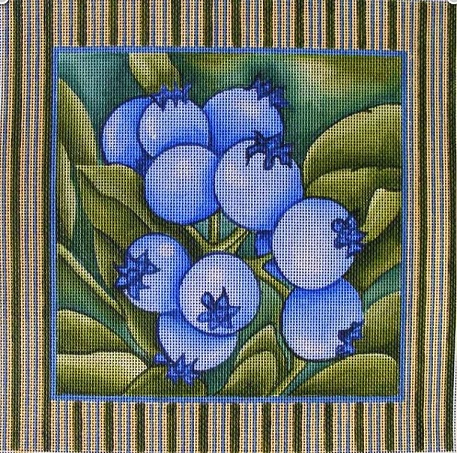 click here to view larger image of Blueberries (hand painted canvases)