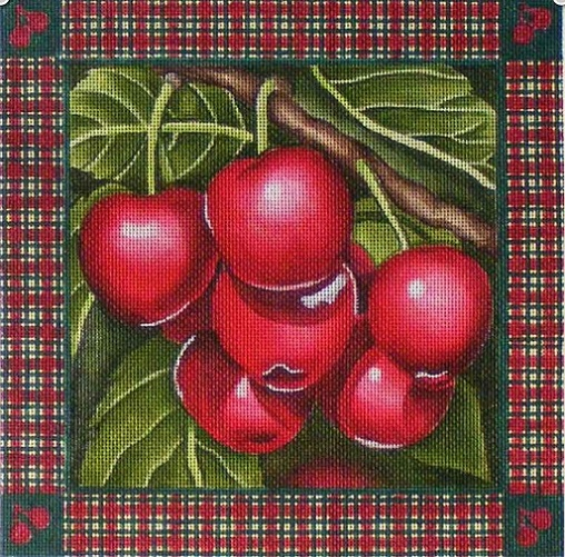 click here to view larger image of Cherries (hand painted canvases)