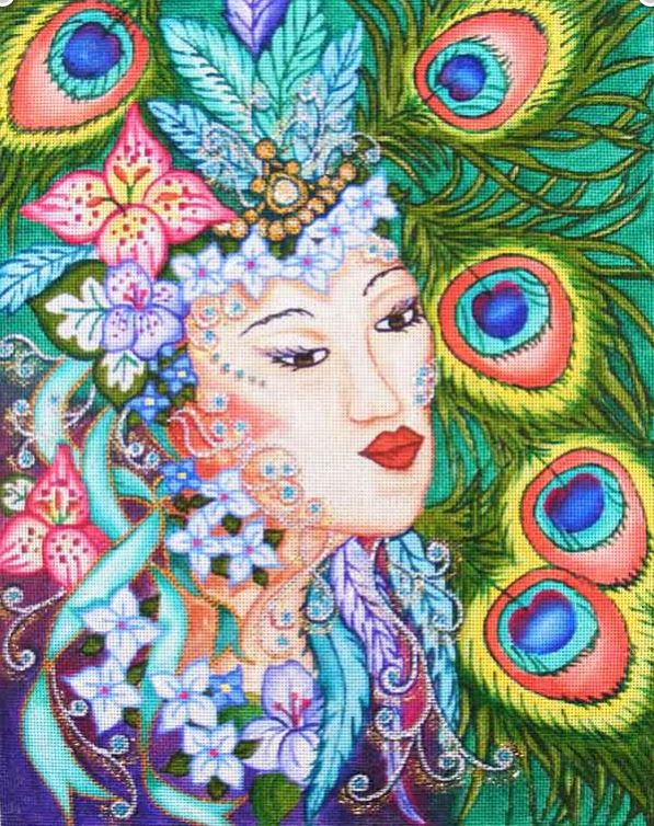 click here to view larger image of Exotic Lady (hand painted canvases)